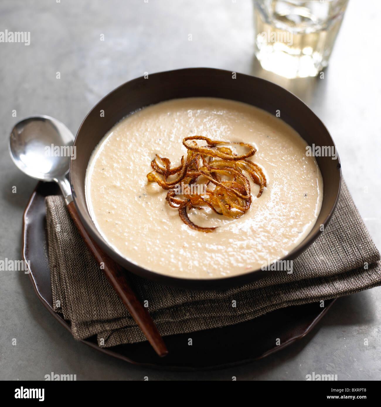 Soupe à l'oignon caramélisé Photo Stock