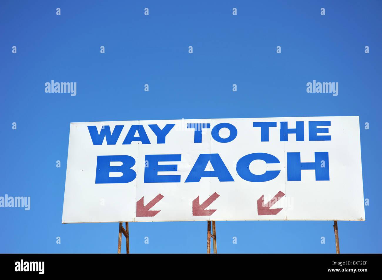 Inscrivez-vous invitez les gens à la plage Photo Stock