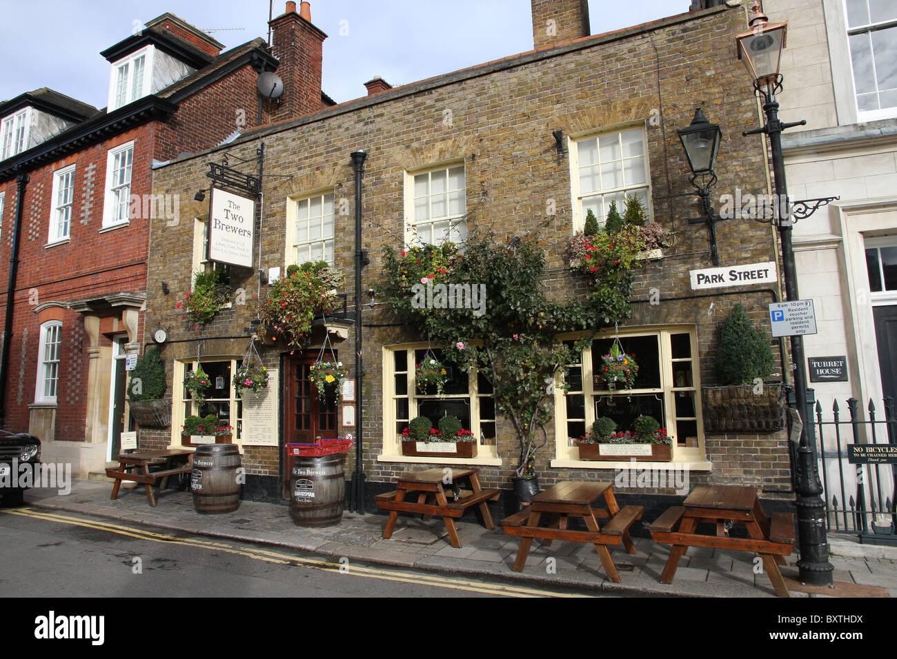 Les deux brasseries Pub à Windsor Photo Stock