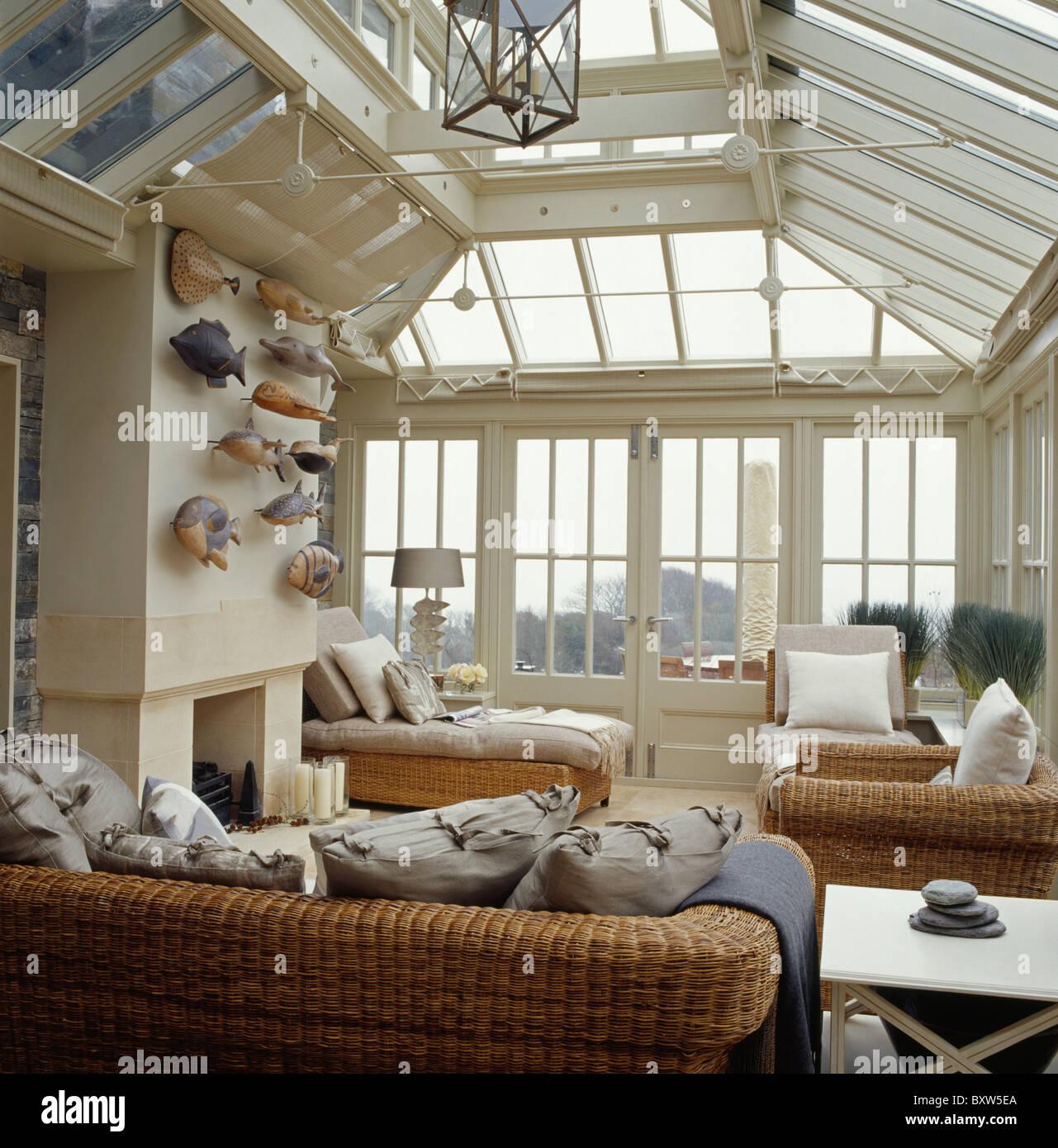 Les Canapes En Osier Grande Veranda Salon Extension Avec