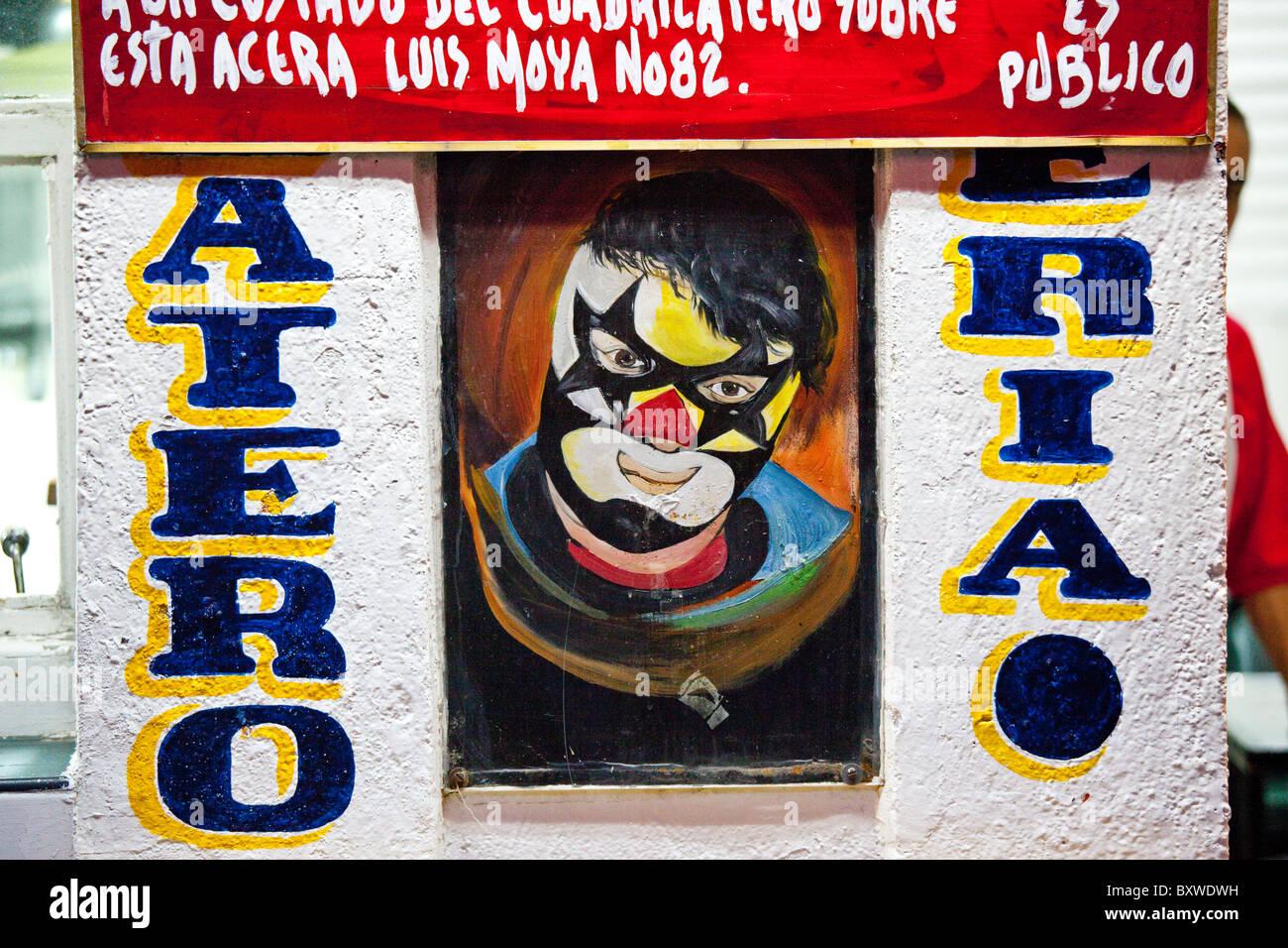 Lucha Libre, la lutte dans la ville de Mexico, Mexique Photo Stock
