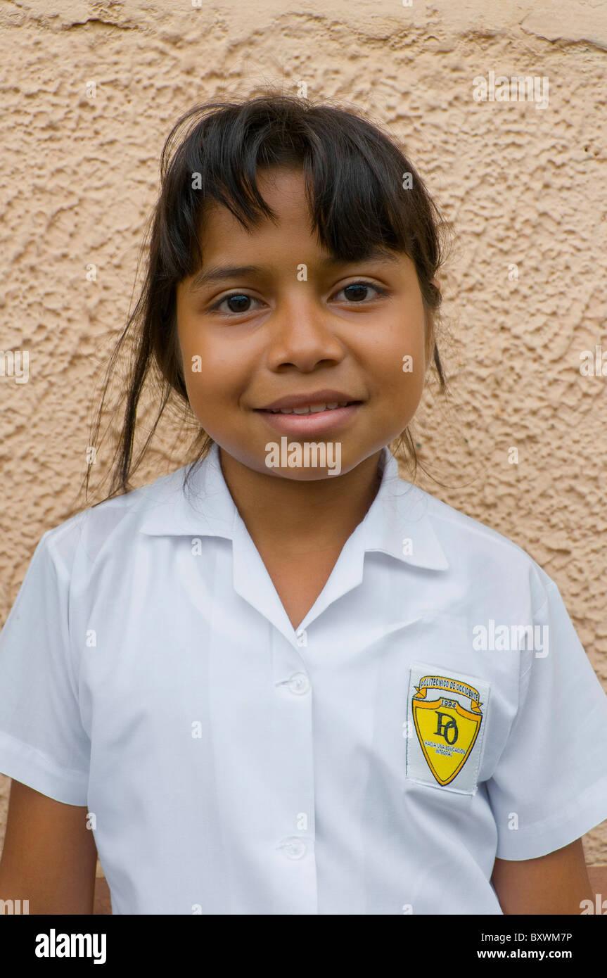 Lycéenne Leon Nicaragua Photo Stock