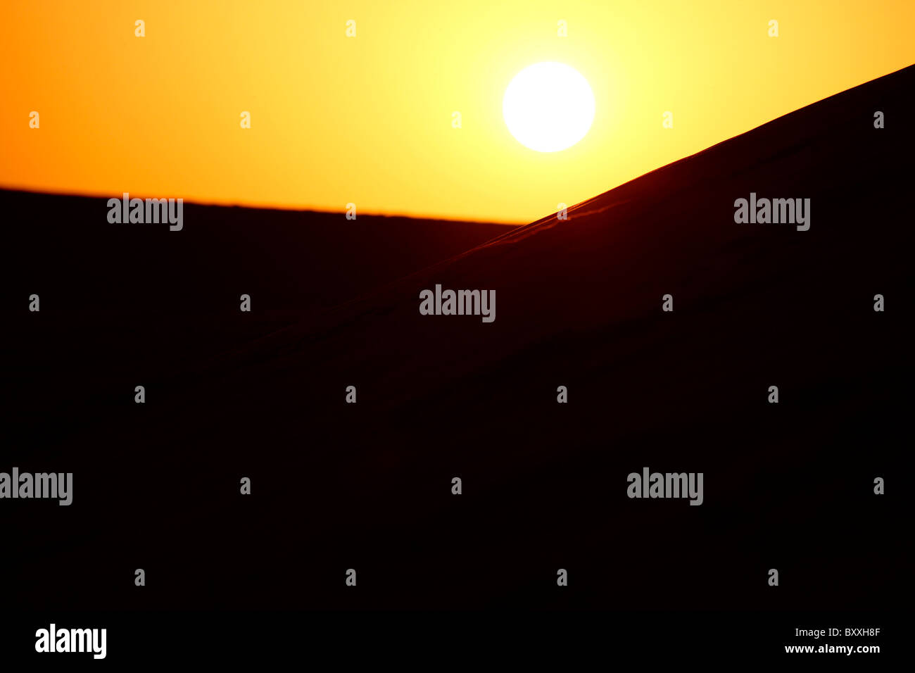 Lever du soleil dans les déserts du Rajasthan Photo Stock