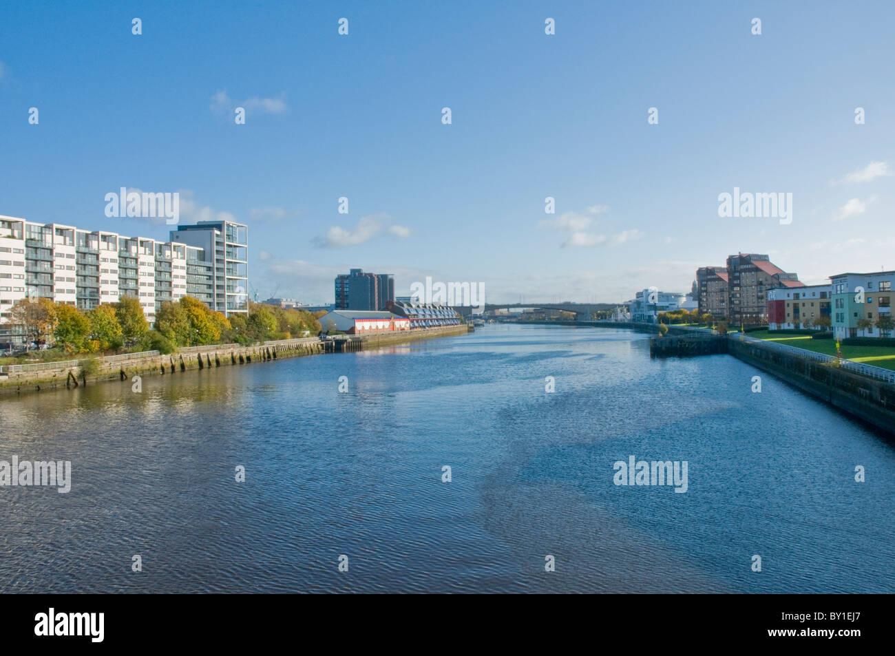 À l'Est le long de la rivière Clyde Glasgow Ecosse Banque D'Images