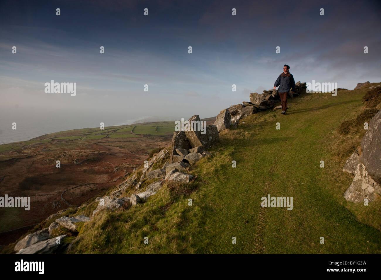Au milieu de paysages de galles près de Barmouth Photo Stock