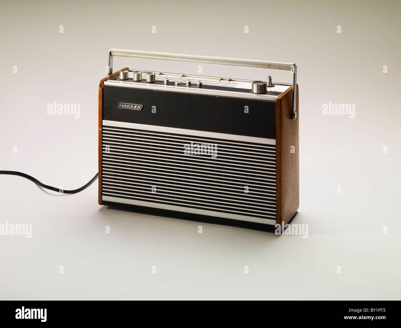 Vieille radio vintage 60's 70's Photo Stock