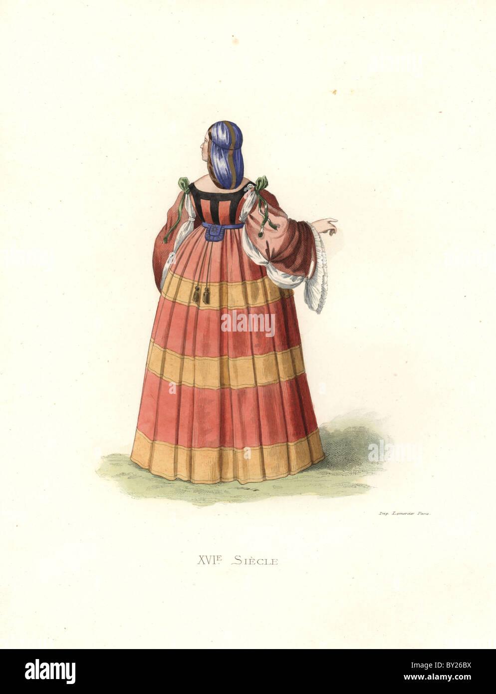 Femme de milan, 16ème siècle. Photo Stock