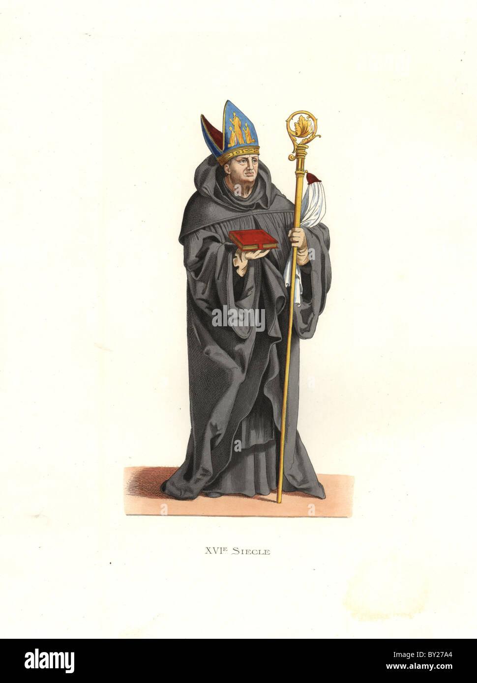 Abbé bénédictin, 16e siècle Photo Stock