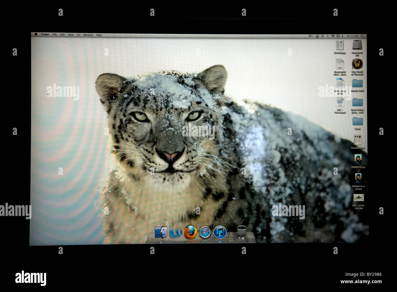 Apple Mac OS Snow Leopard écran de bureau Photo Stock