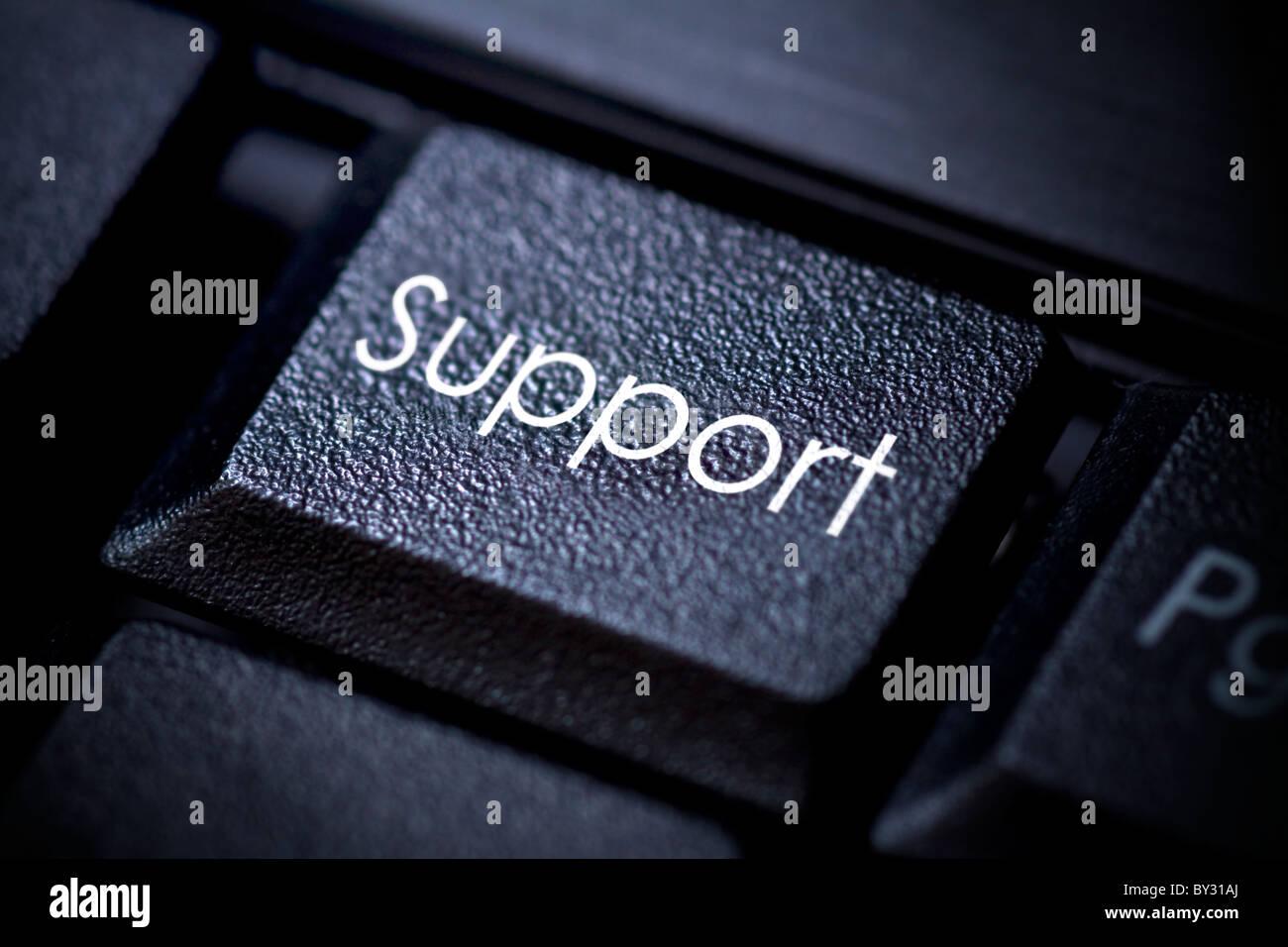 Clavier de l'ordinateur Image conceptuelle. Bouton de support. Photo Stock