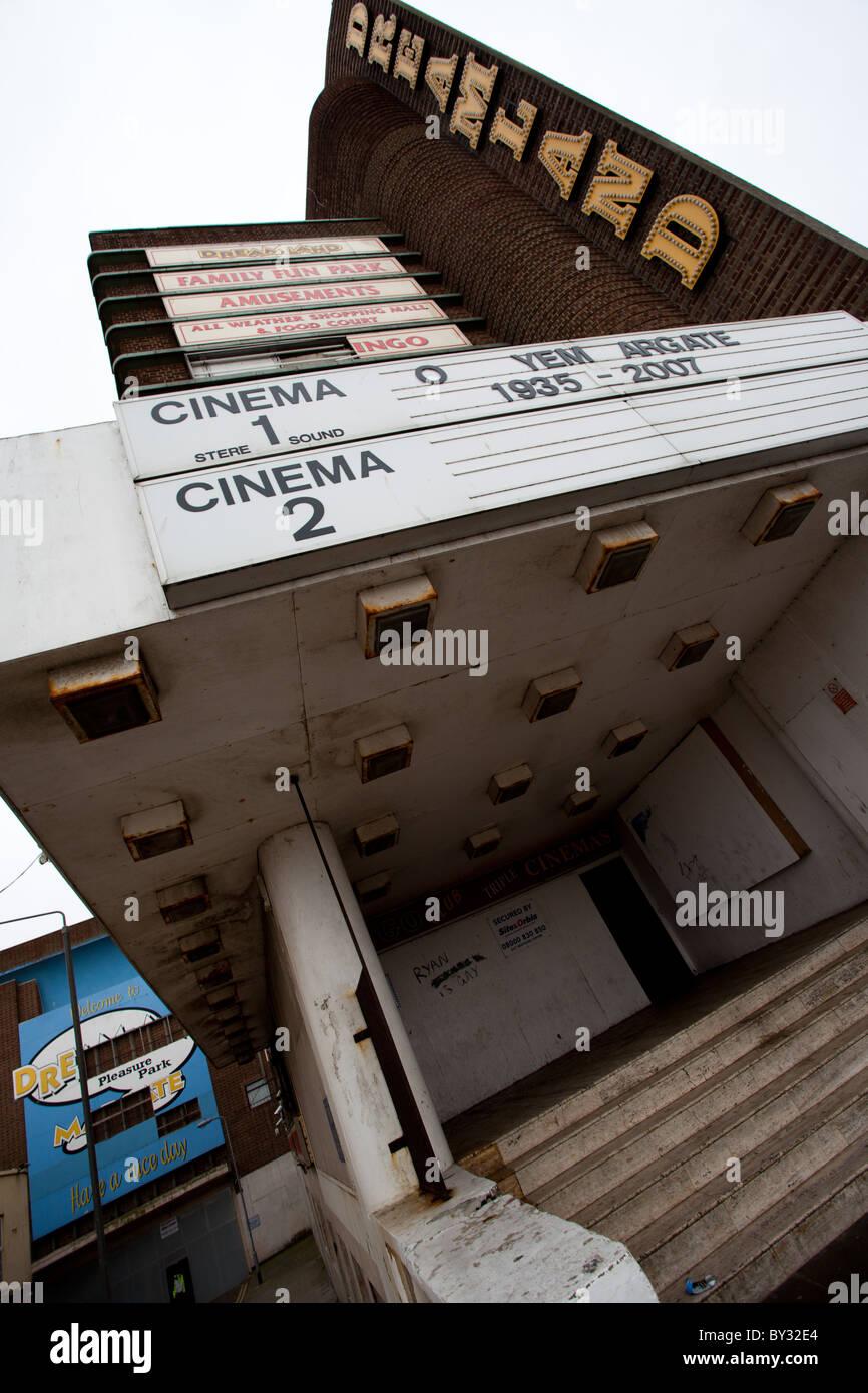 La fermeture d'un cinéma dans la ville balnéaire de Margate Photo Stock