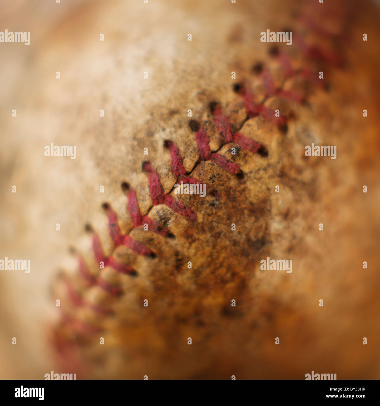 Couture sur baseball antique Photo Stock
