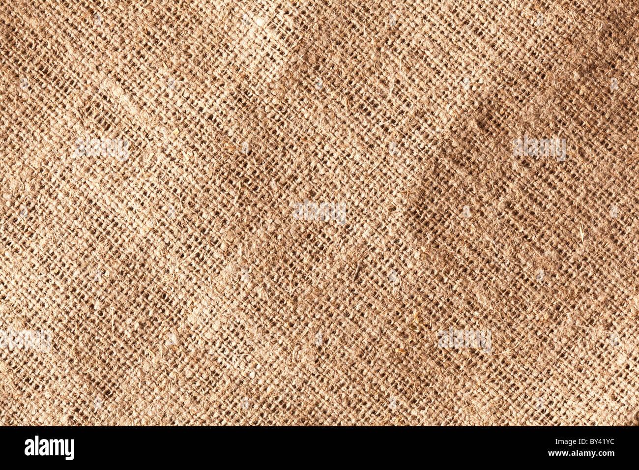 La texture de l'image de la toile de jute. Photo Stock
