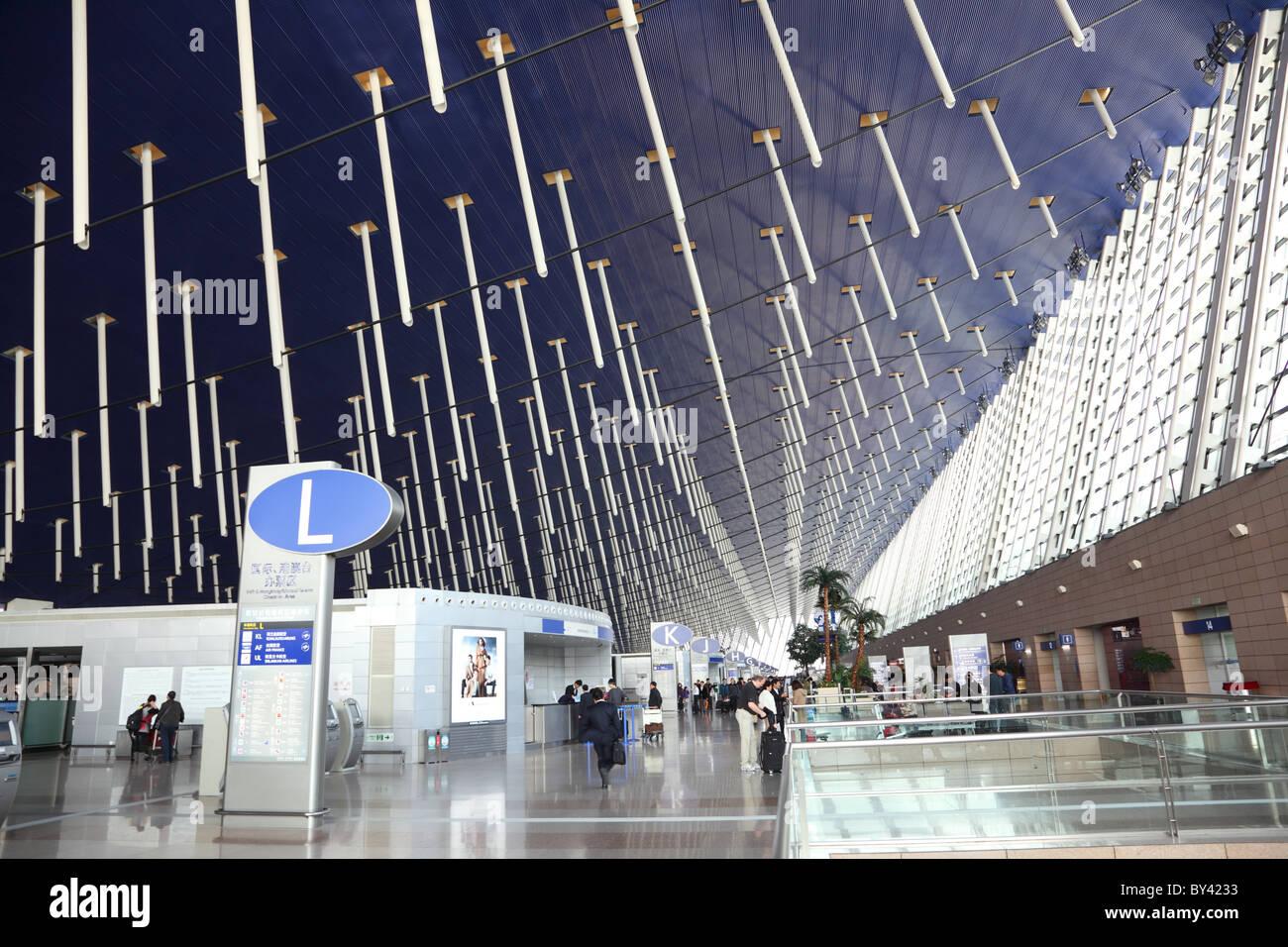 L'Aéroport International de Shanghai. Photo Stock