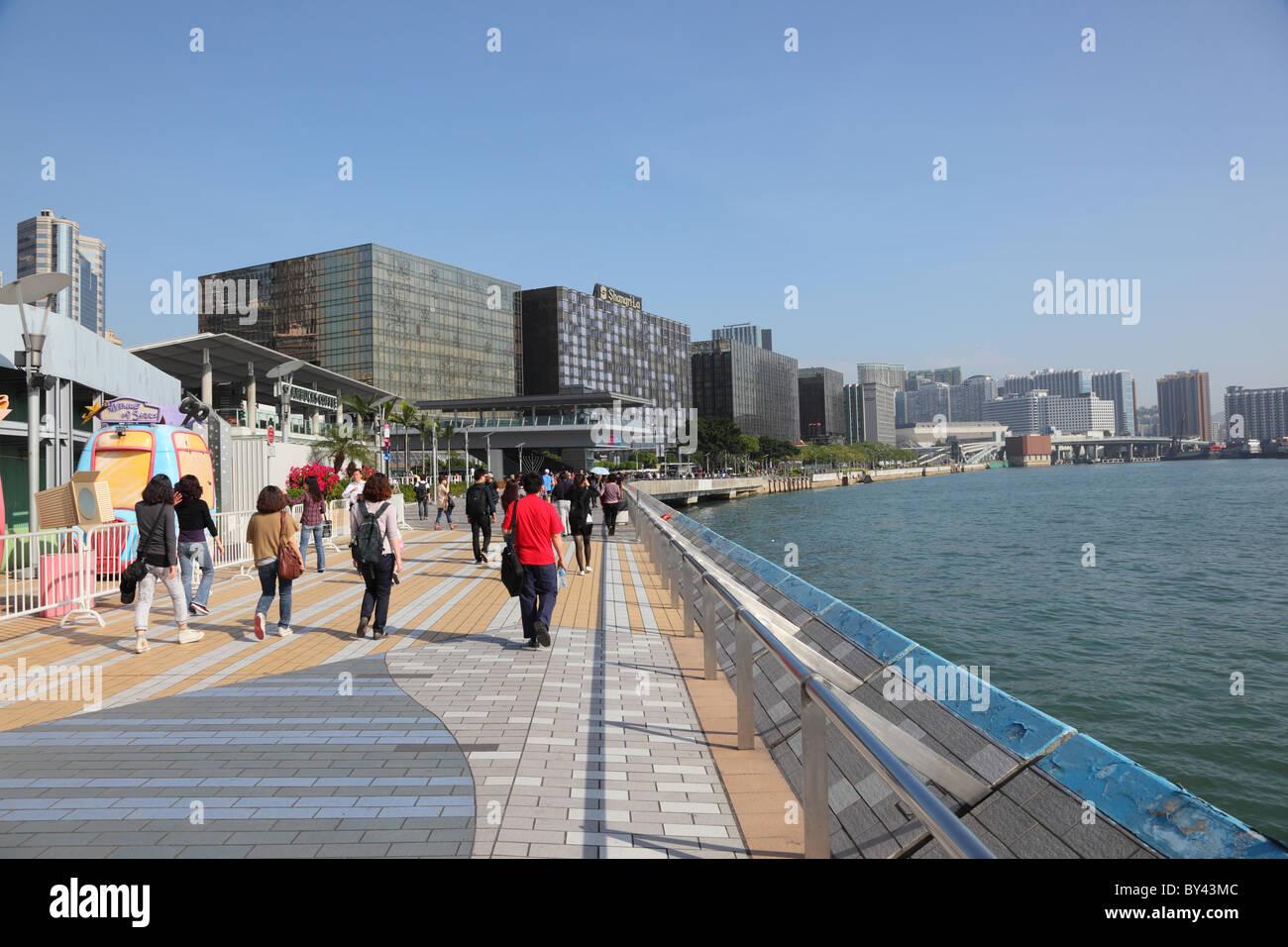 L'Avenue des Stars à Hong Kong. Photo prise à la 5 Décembre 2010 Photo Stock