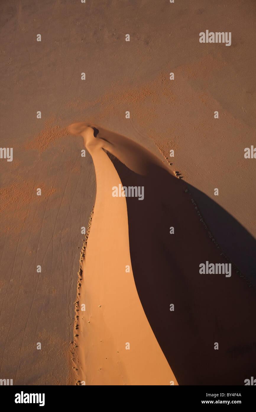 Vue aérienne, Désert du Namib, le Namib Naukluft National Park, Namibie Photo Stock