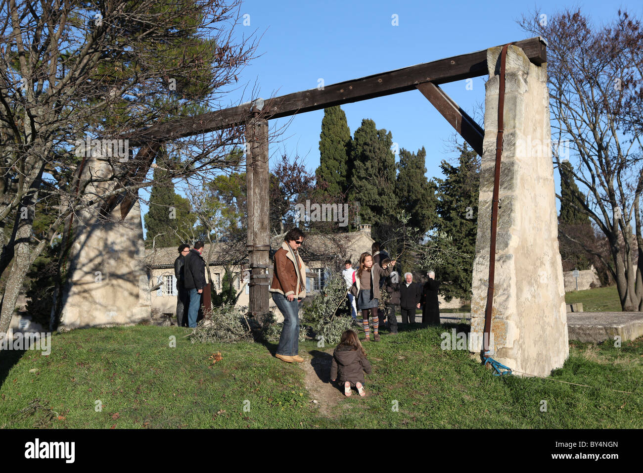 Les Alpilles, Saint Rémy de Provence Photo Stock