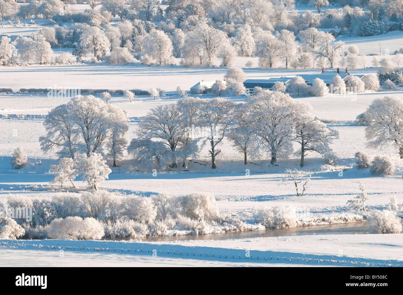 La neige a couvert l'Ecosse Banque D'Images