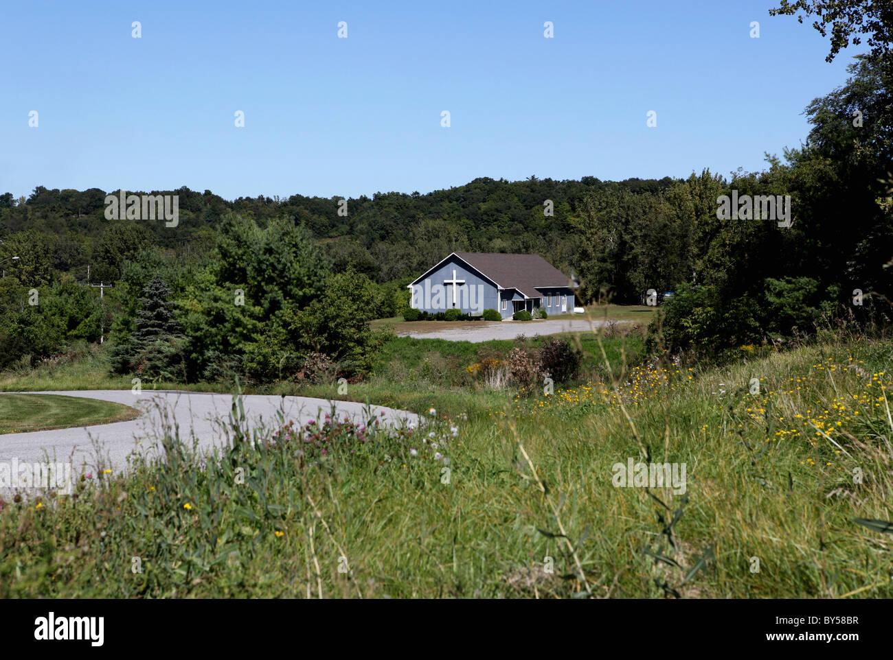 Une église dans une zone rurale Photo Stock