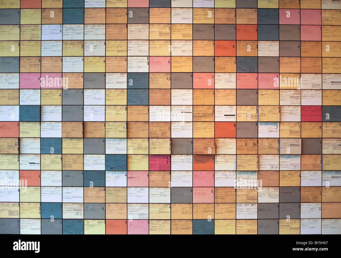 Allemagne,Berlin,Centre de Documentation Topographie de la terreur, des cartes à partir de l'après Photo Stock