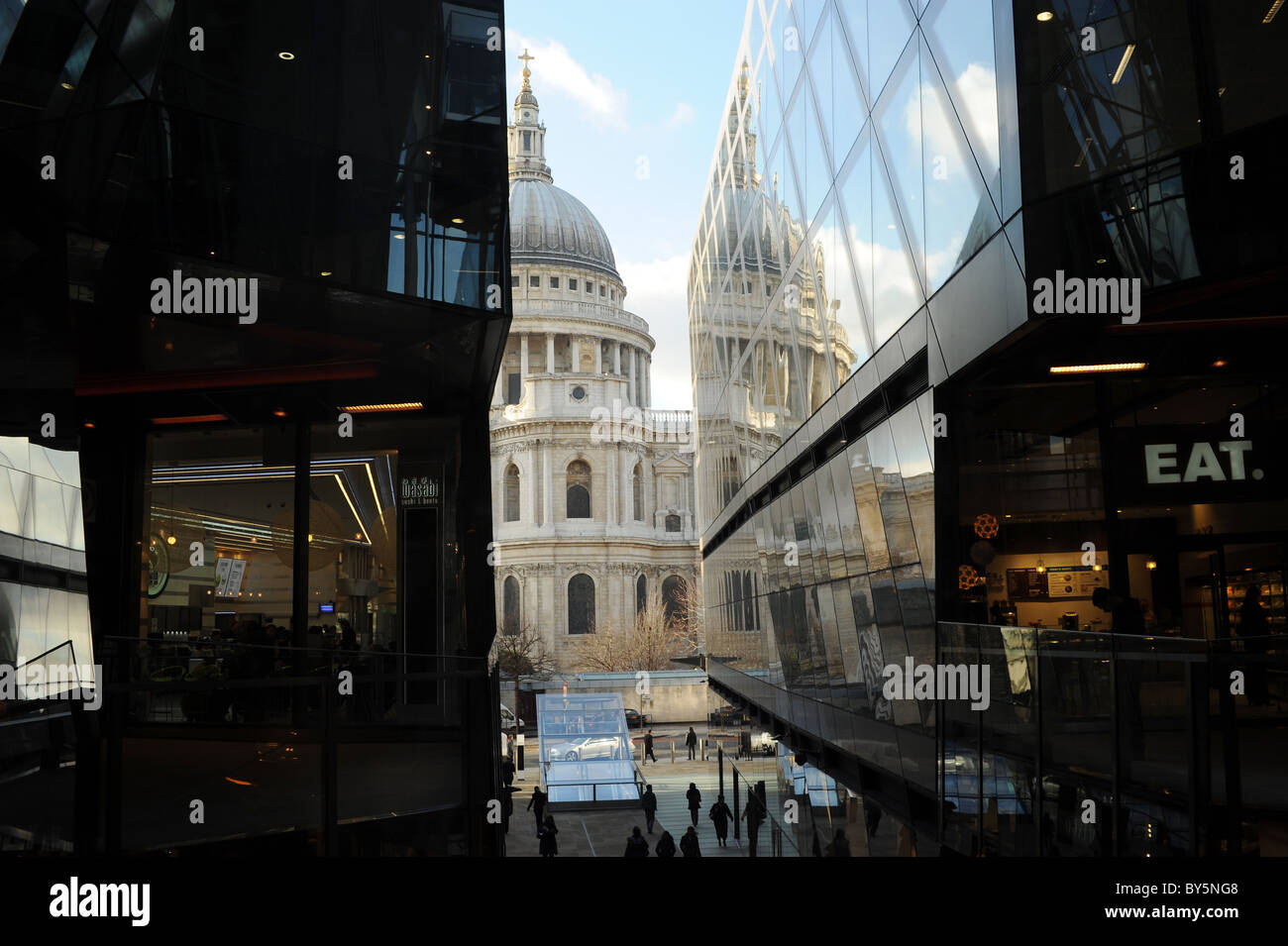 Un nouveau changement Shopping Centre, Londres, Angleterre Banque D'Images