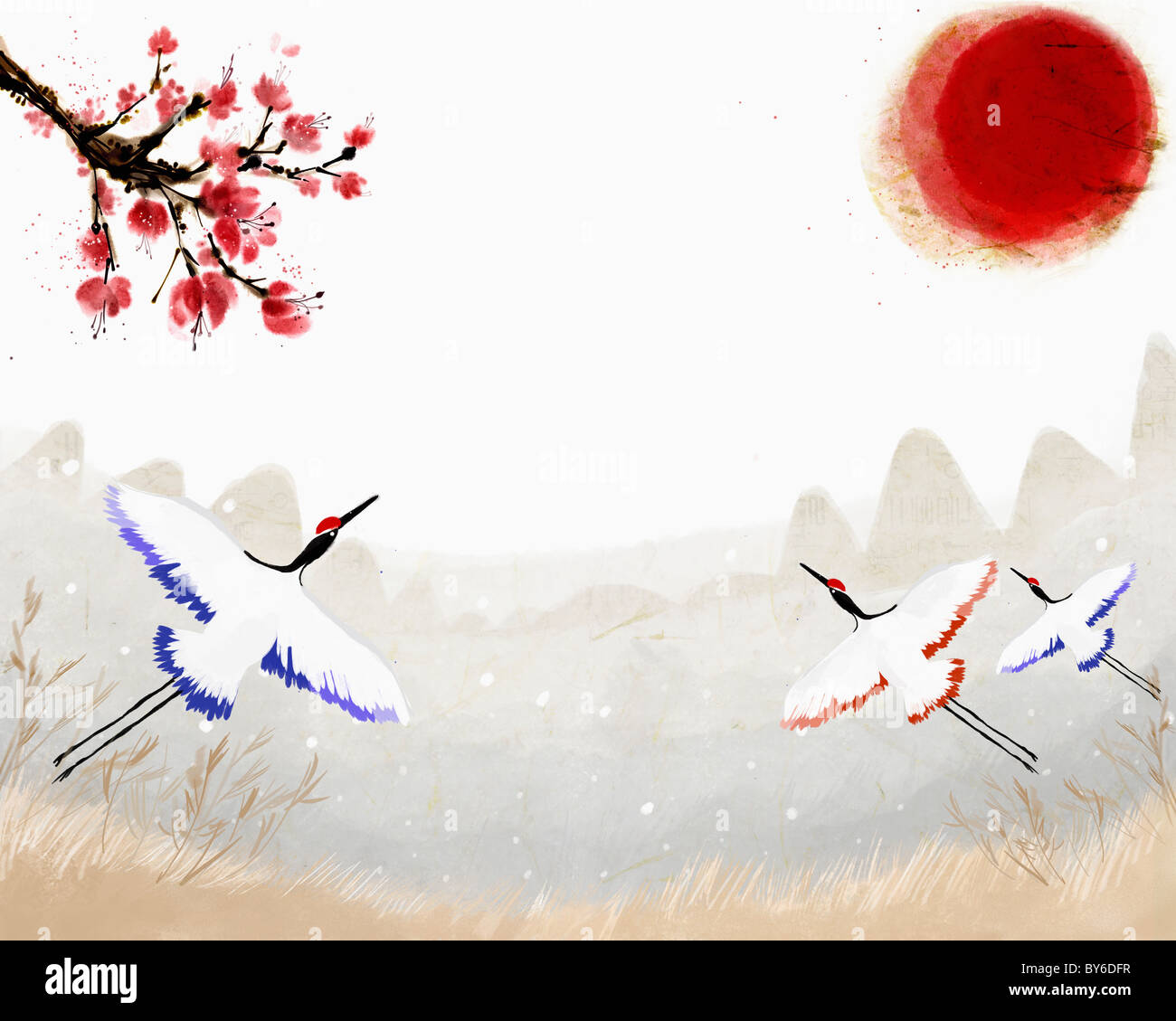 2013 année lunaire illustration humeur oriental Photo Stock