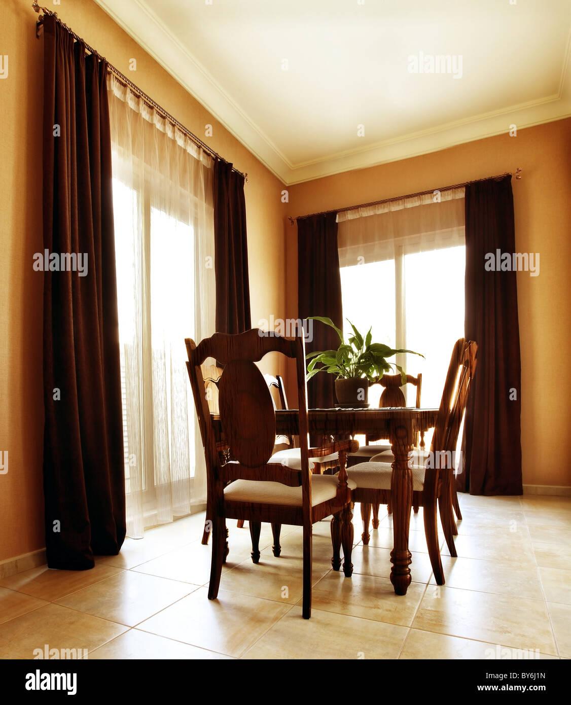 Appartement De Luxe Avec Un Design Intérieur élégant Et Moderne, Salle à  Manger