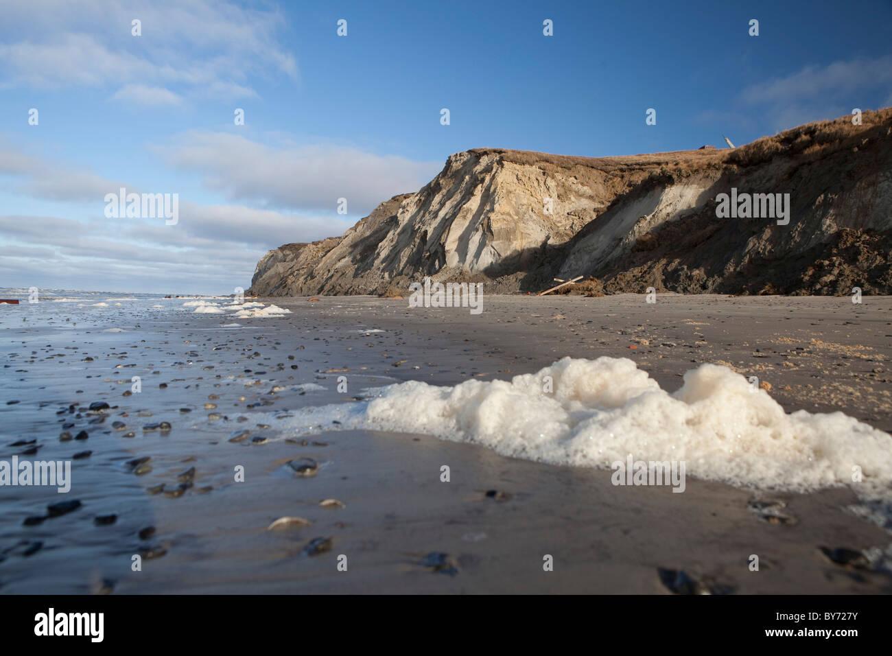 La péninsule de Yamal , l'ouest de la Sibérie , la Russie . La tribu Nenet mode de vie sont menacés Photo Stock