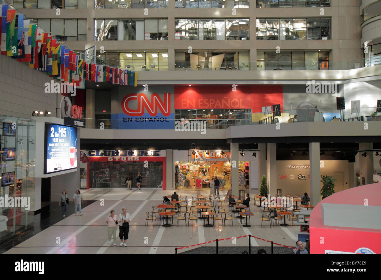 Atlanta géorgie cnn center atrium store shopping en espanol cnn
