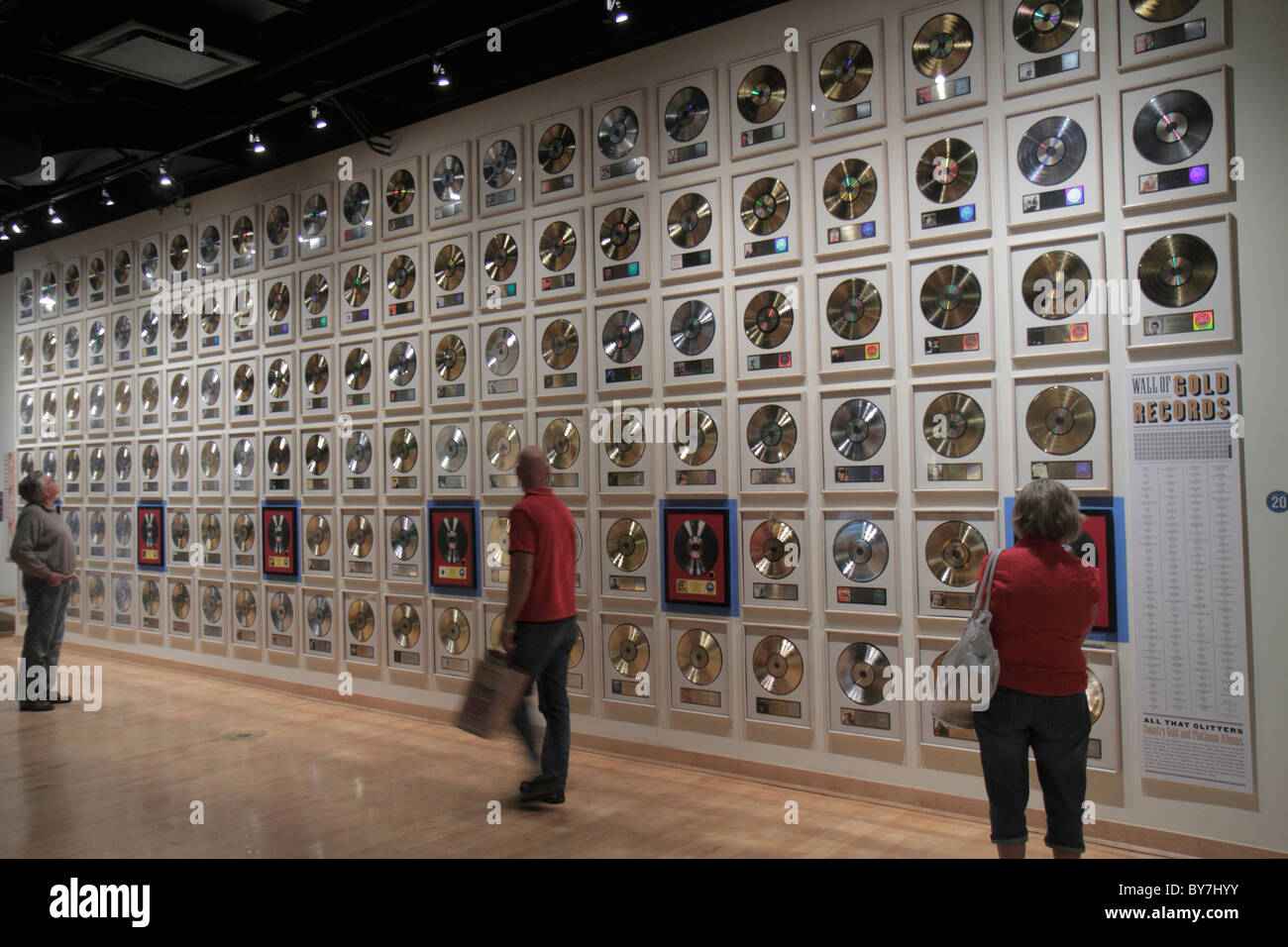Nashville Tennessee Country Music Hall of Fame & Museum et de l'industrie de la musique exposition attraction Photo Stock