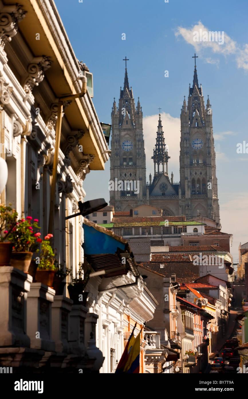 Église de la Basilica del Voto Nacional Quito, Équateur Photo Stock