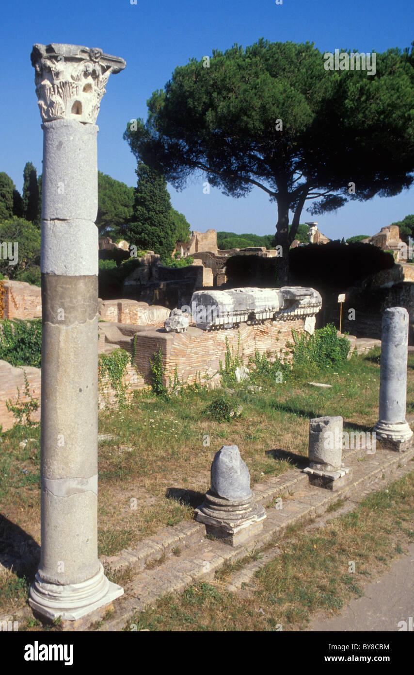 OSTIA ANTICA, Antiquité, ROME, ITALIE Photo Stock