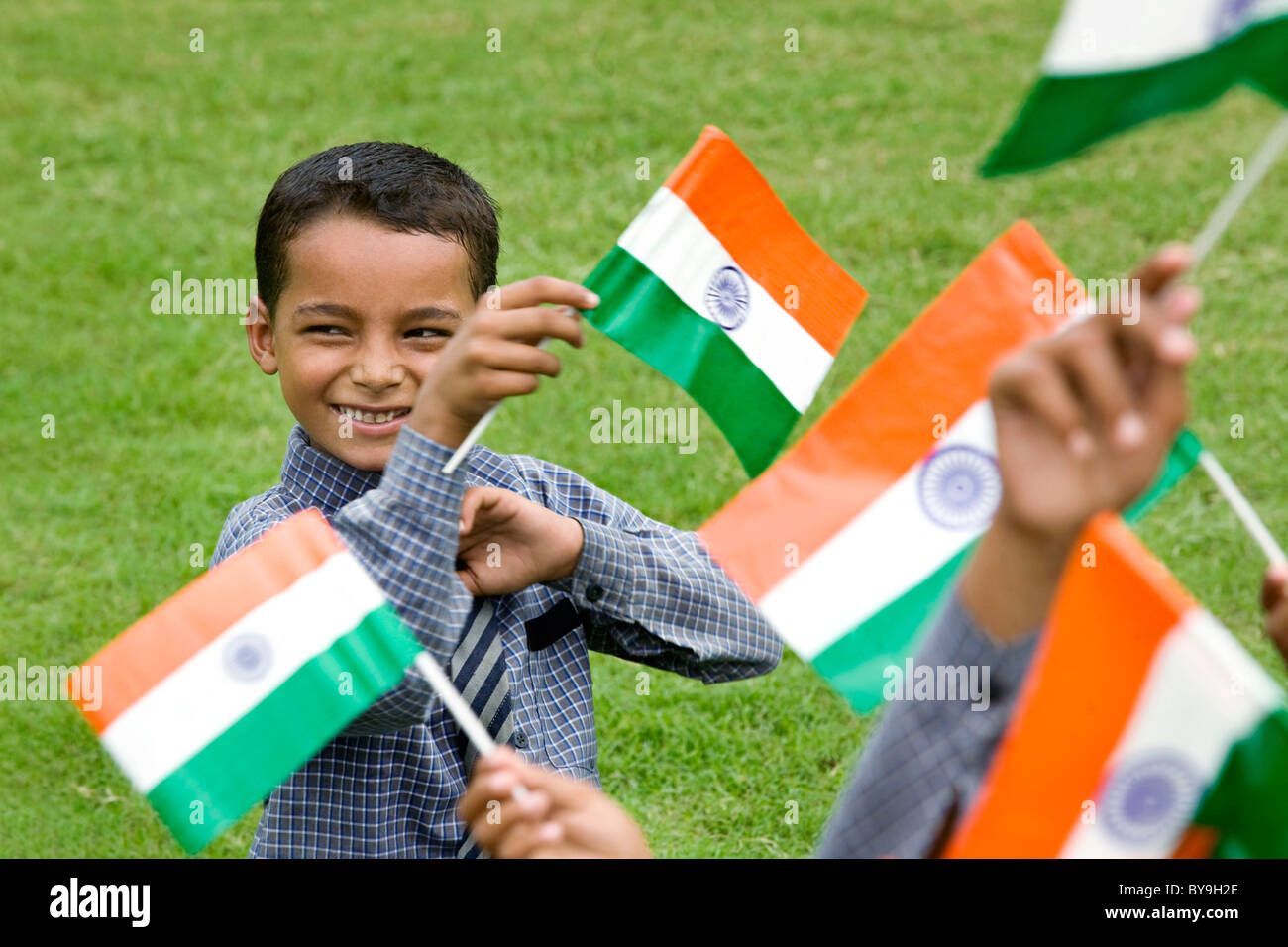 d59e981ea Indian Kids Standing Flag Photos & Indian Kids Standing Flag Images ...