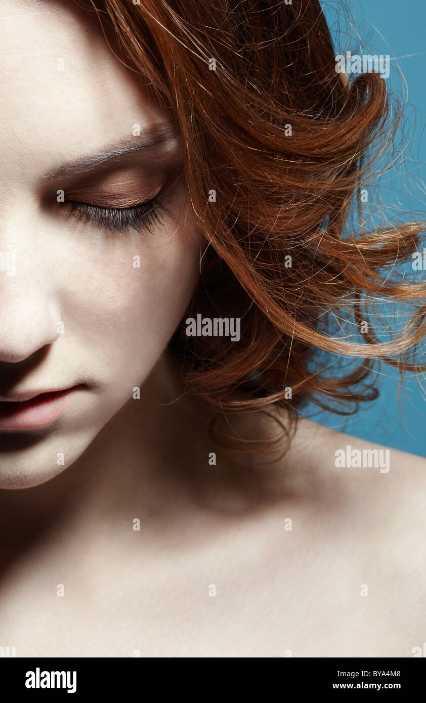 Belle fille de rousseur Photo Stock