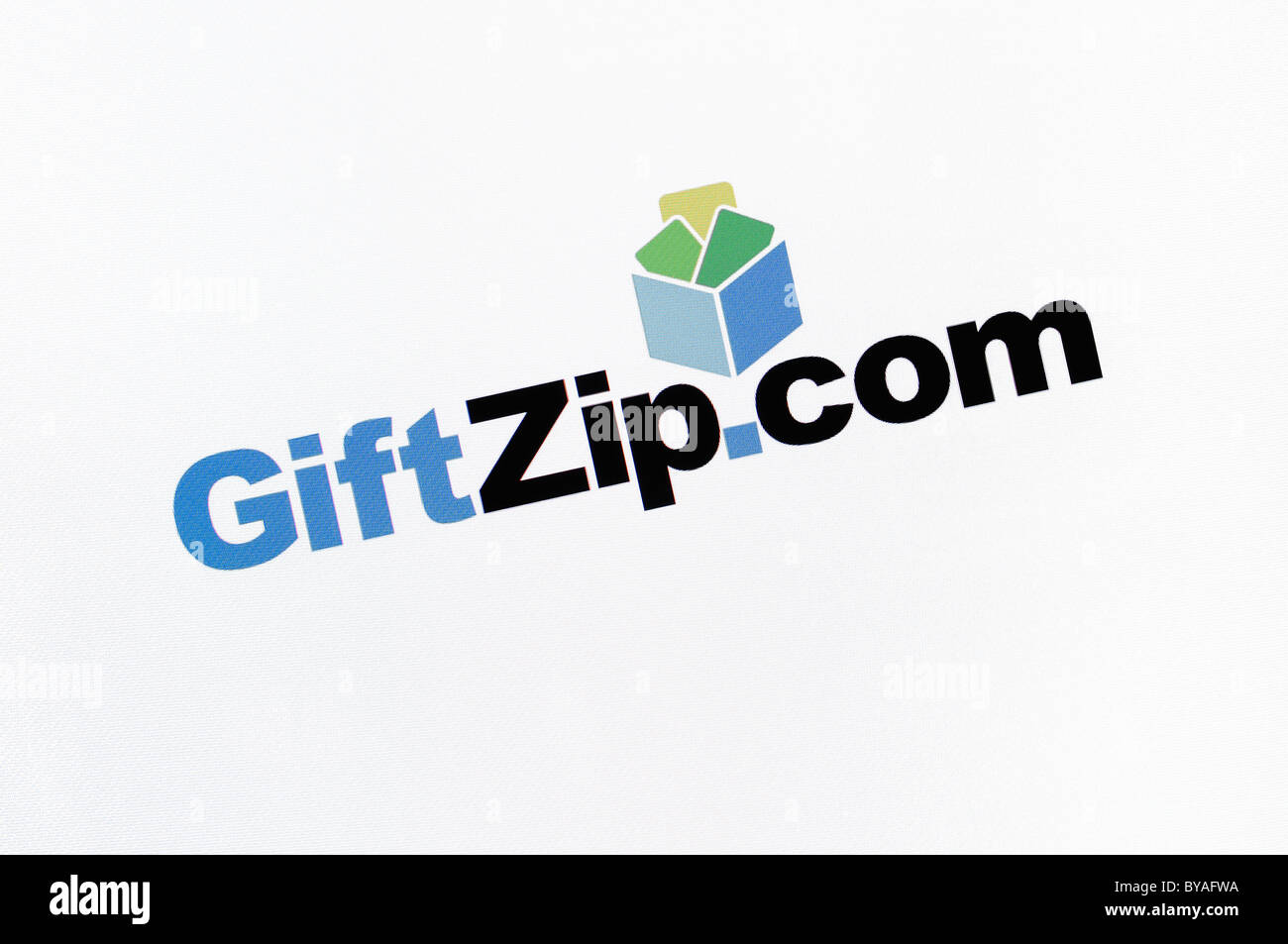 GiftZip.com site capture d'écran Photo Stock