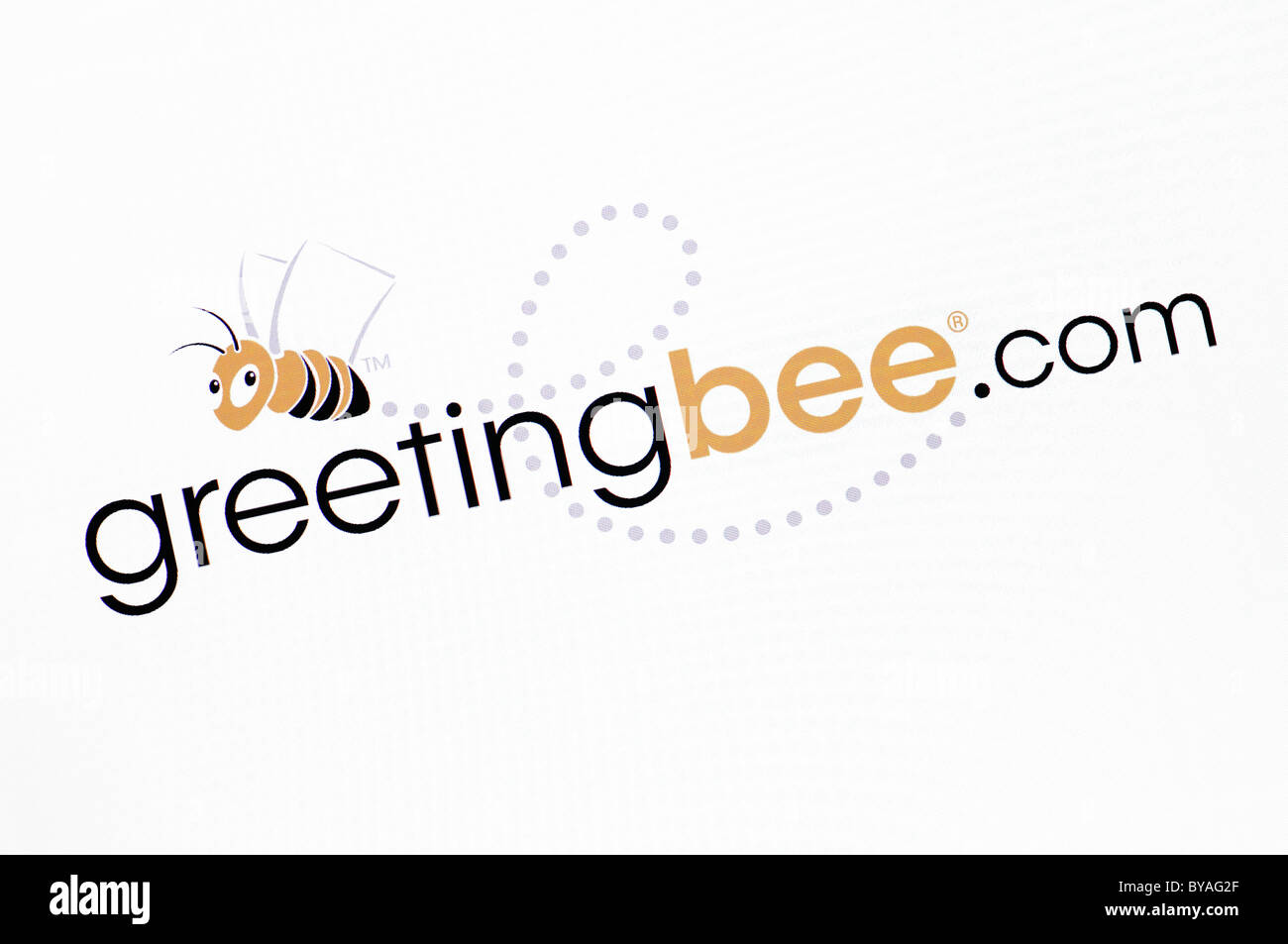 Greetingbee.com site capture d'écran Photo Stock