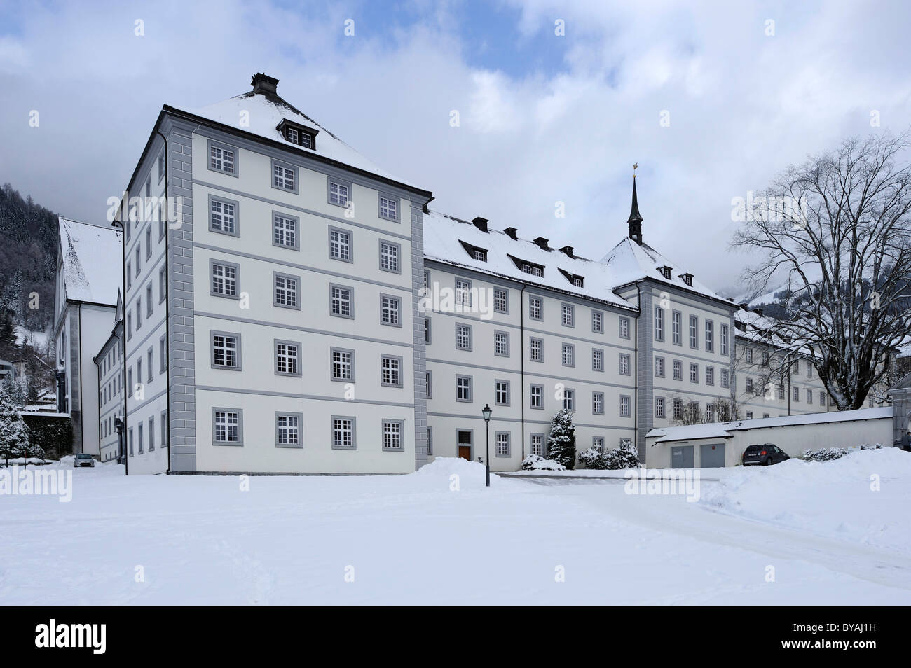 Monastère Kloster Engelberg, Switzerland, Suisse, Europe Photo Stock