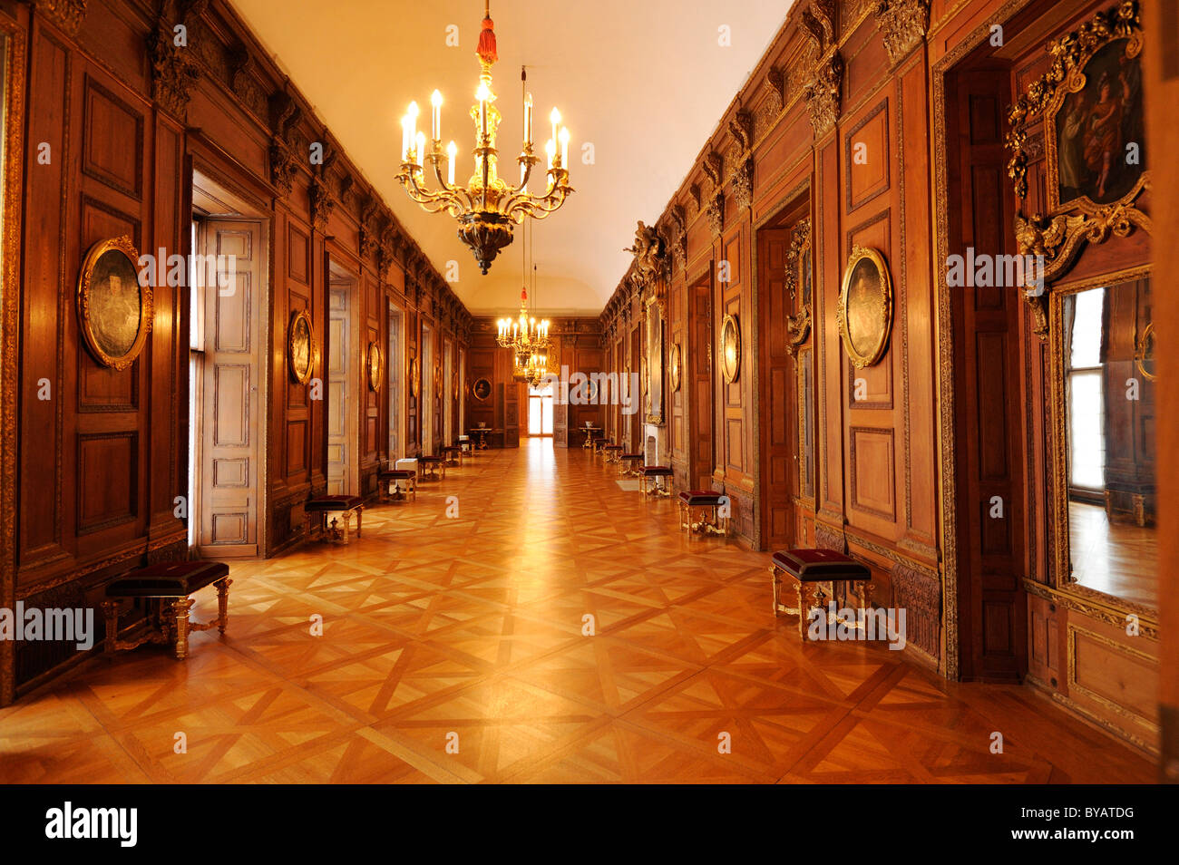 L'intérieur, le palais Schloss Charlottenburg, Berlin, Germany, Europe Photo Stock
