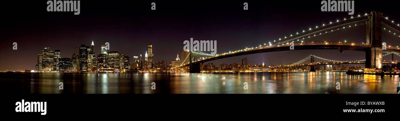Big Apple, pont de Brooklyn, New York, USA Photo Stock