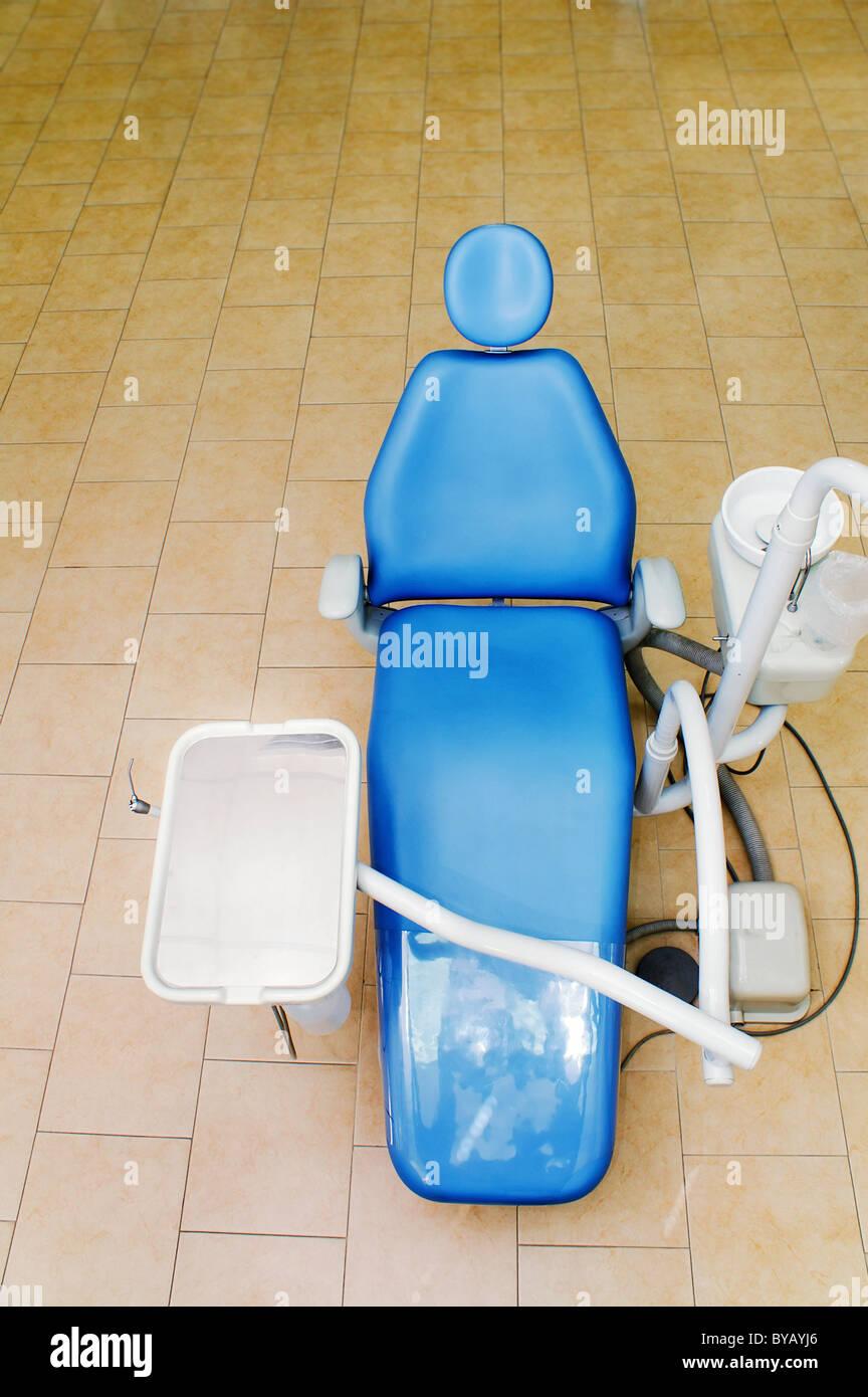 Fauteuil dentaire clinique de médecine dentaire , équipement , département d'orthodontie Photo Stock