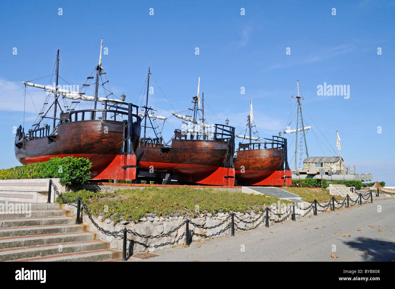 L'homme et la mer, le musée, les navires anciens, la péninsule de Magdalena, Santander, Cantabria, Photo Stock