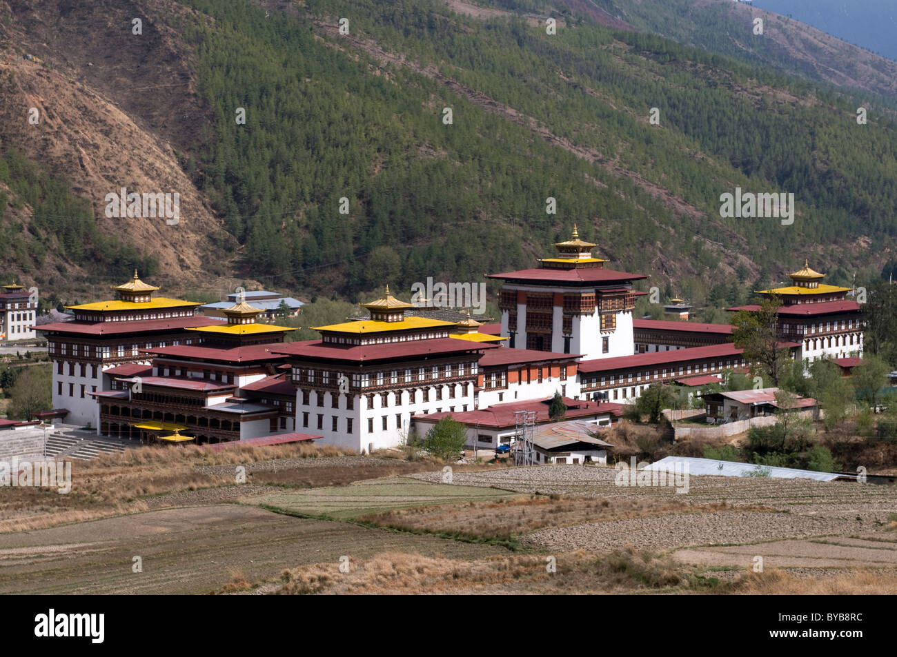 Kings Palace, dzong à Thimpu, Bhoutan, Asie Photo Stock