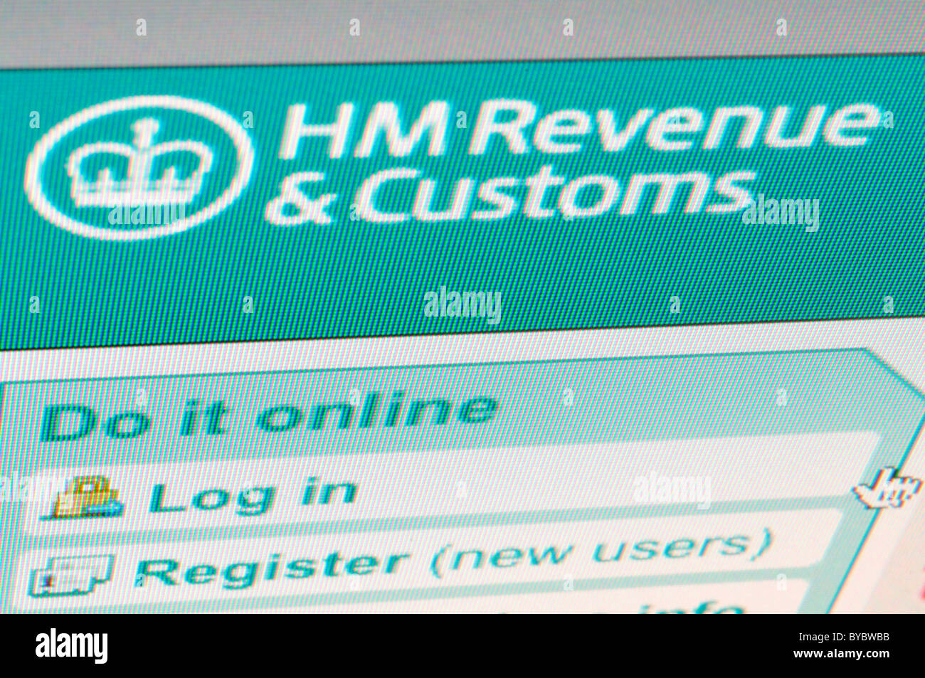 HM Revenue and Customs Site Web Photo Stock