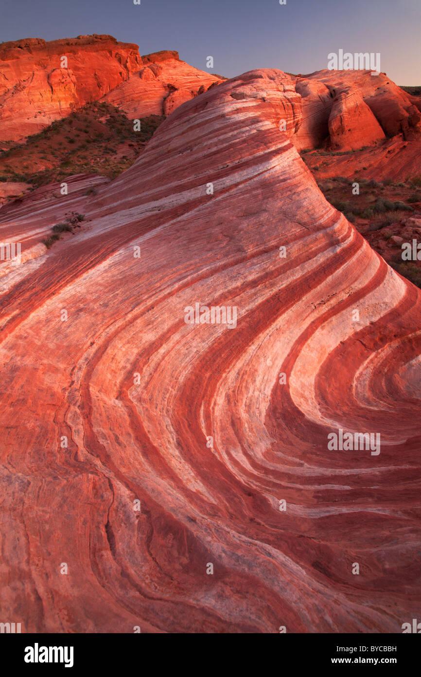 Vallée de Feu, le parc désert de Mojave, dans le Nevada Photo Stock