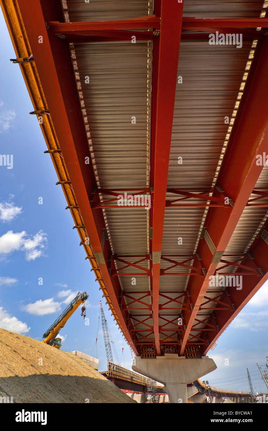 La construction d'infrastructures routières, I-95, New Haven, Ct. Photo Stock
