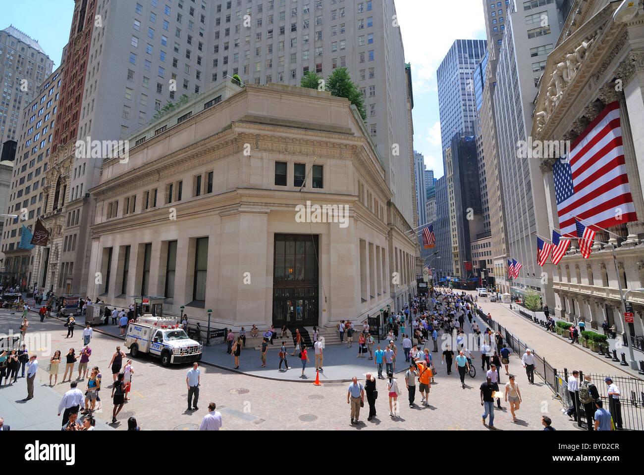 Une vue de la Bourse de Wall Street. Le 4 juin 2010. Photo Stock