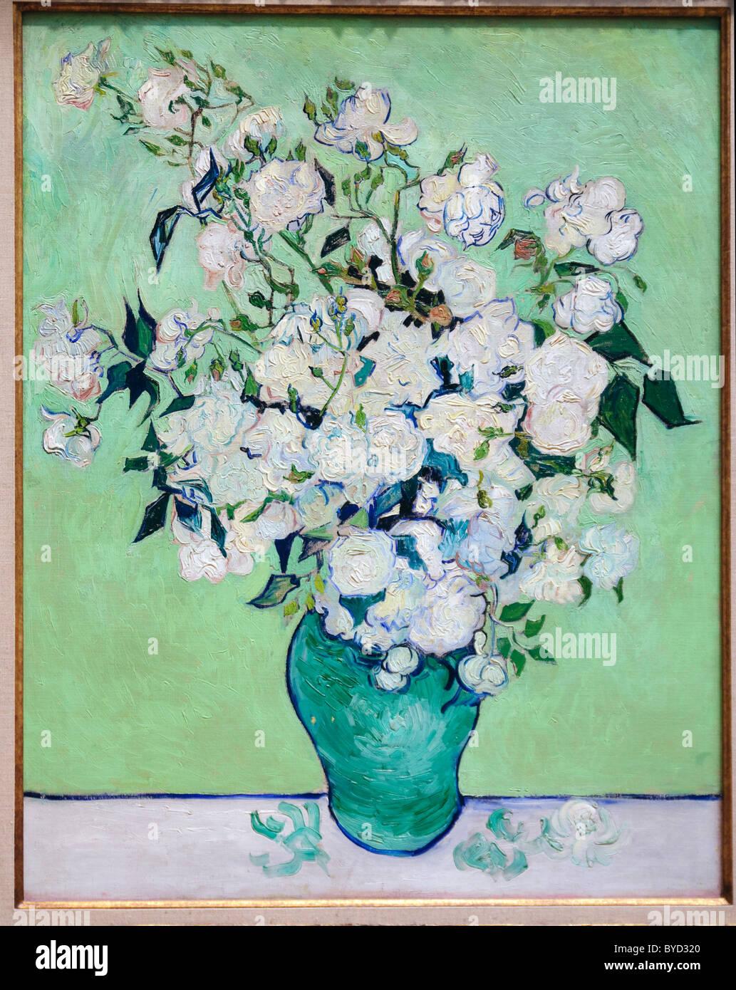 Roses, 1890, par Vincent van Gogh, Photo Stock