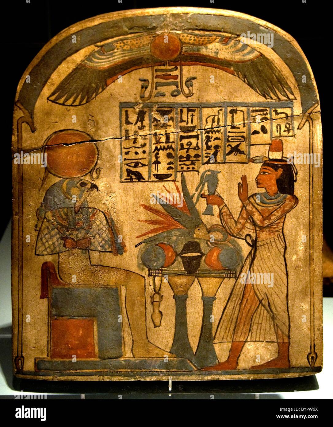 L'antiquité de l'Égypte Musée culture déesse dieu pharaon Photo Stock
