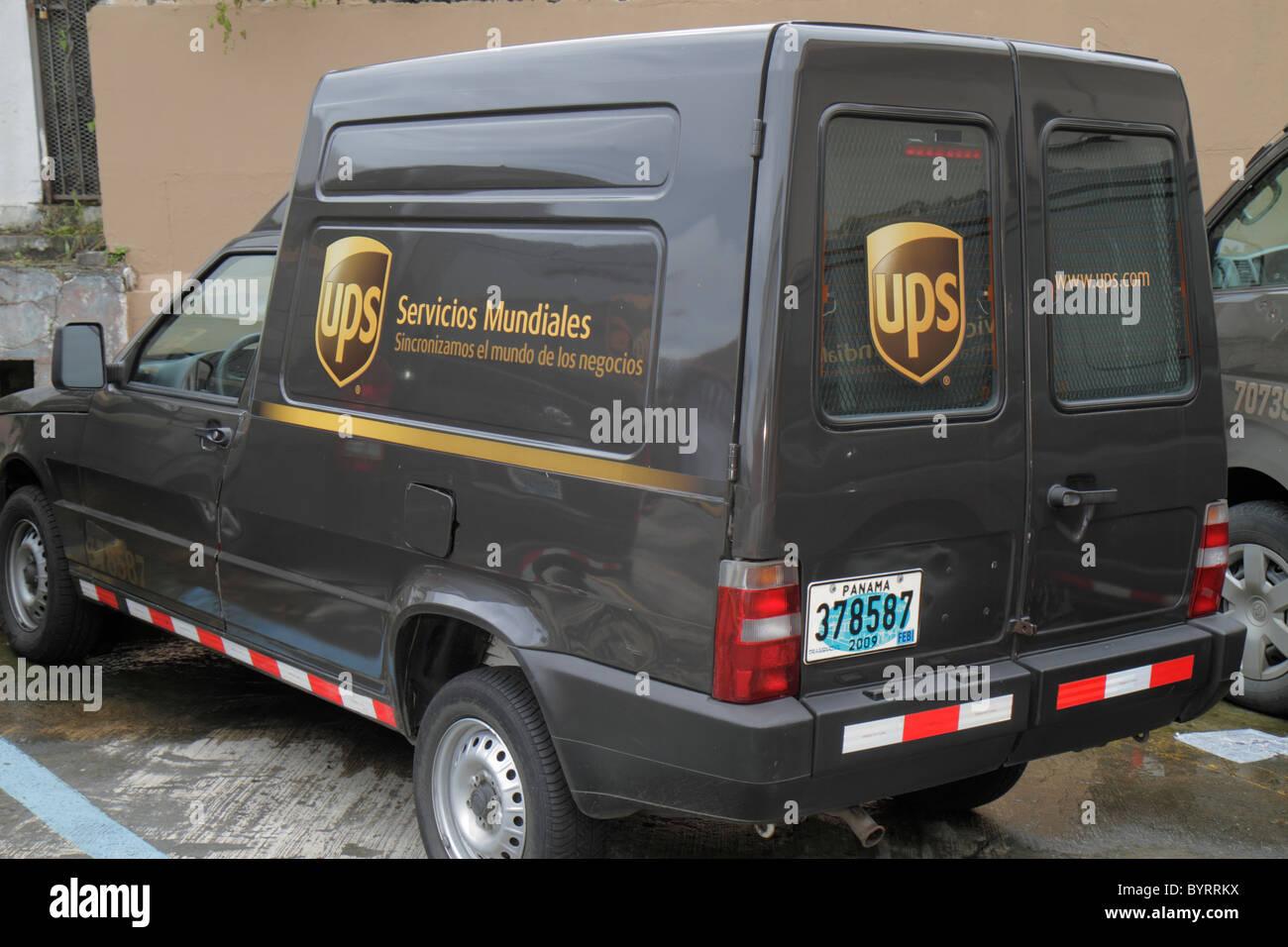 Panama City Panama Bella Vista UPS United Parcel Service business courier Livraison du forfait voyage international Photo Stock