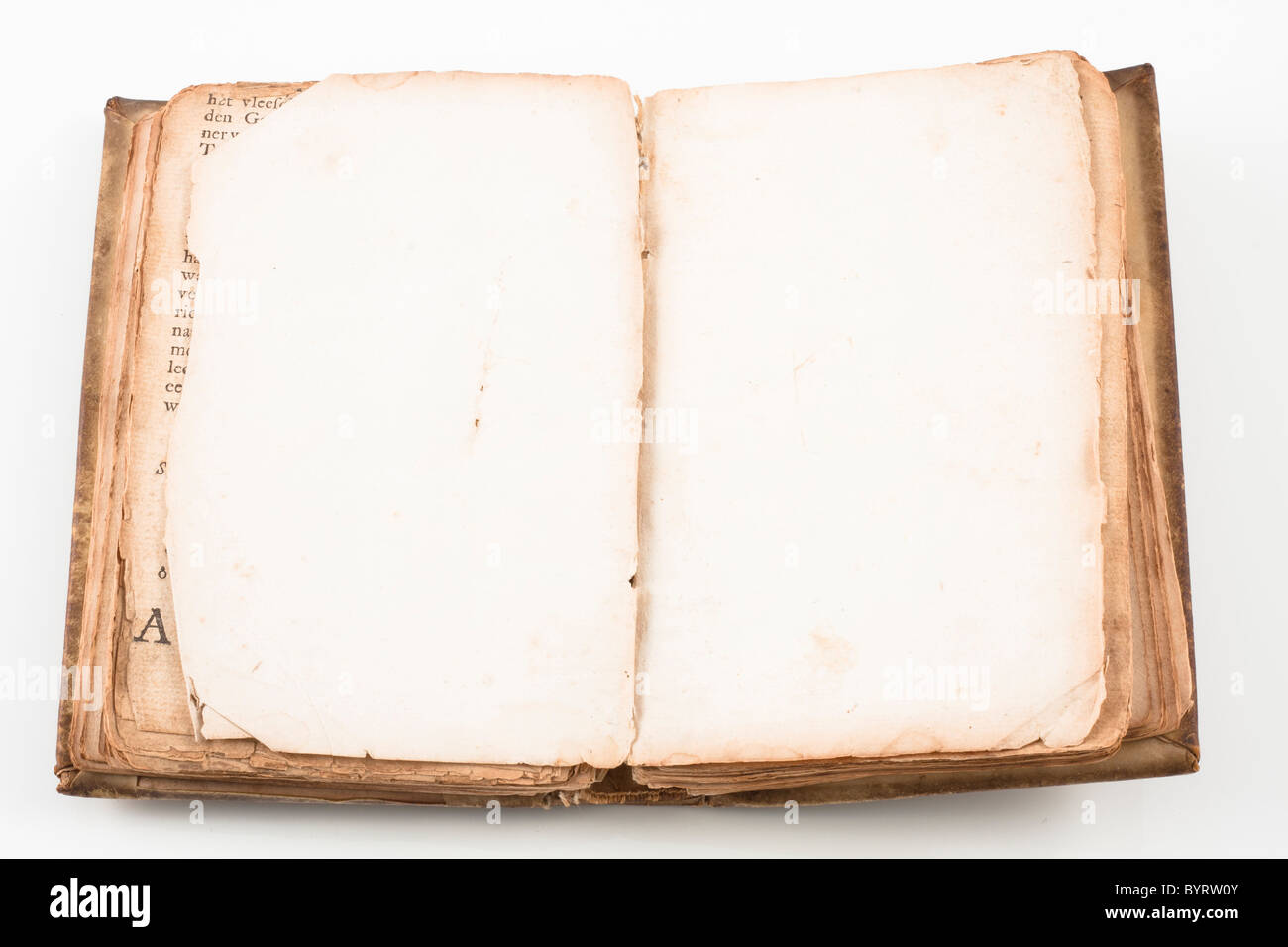 Vieux Livre Ancien De 1739 Avec Couverture En Cuir Isole Sur